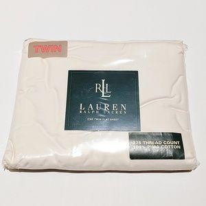 Lauren Ralph Lauren Pima Cotton Twin Flat Sheet